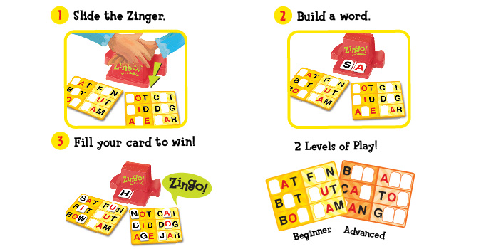 Zingo Word Builder How-To