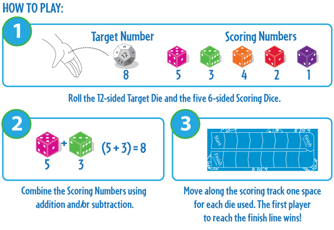 Math Dice Jr How-To Play