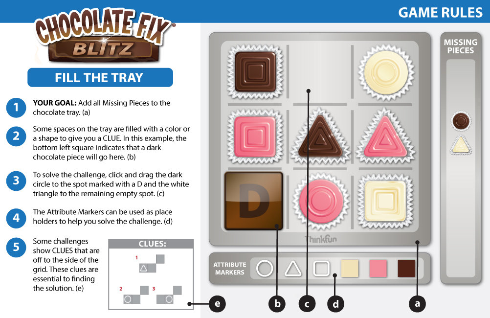 Chocolate Fix Thinkfuns Play Online Game Library