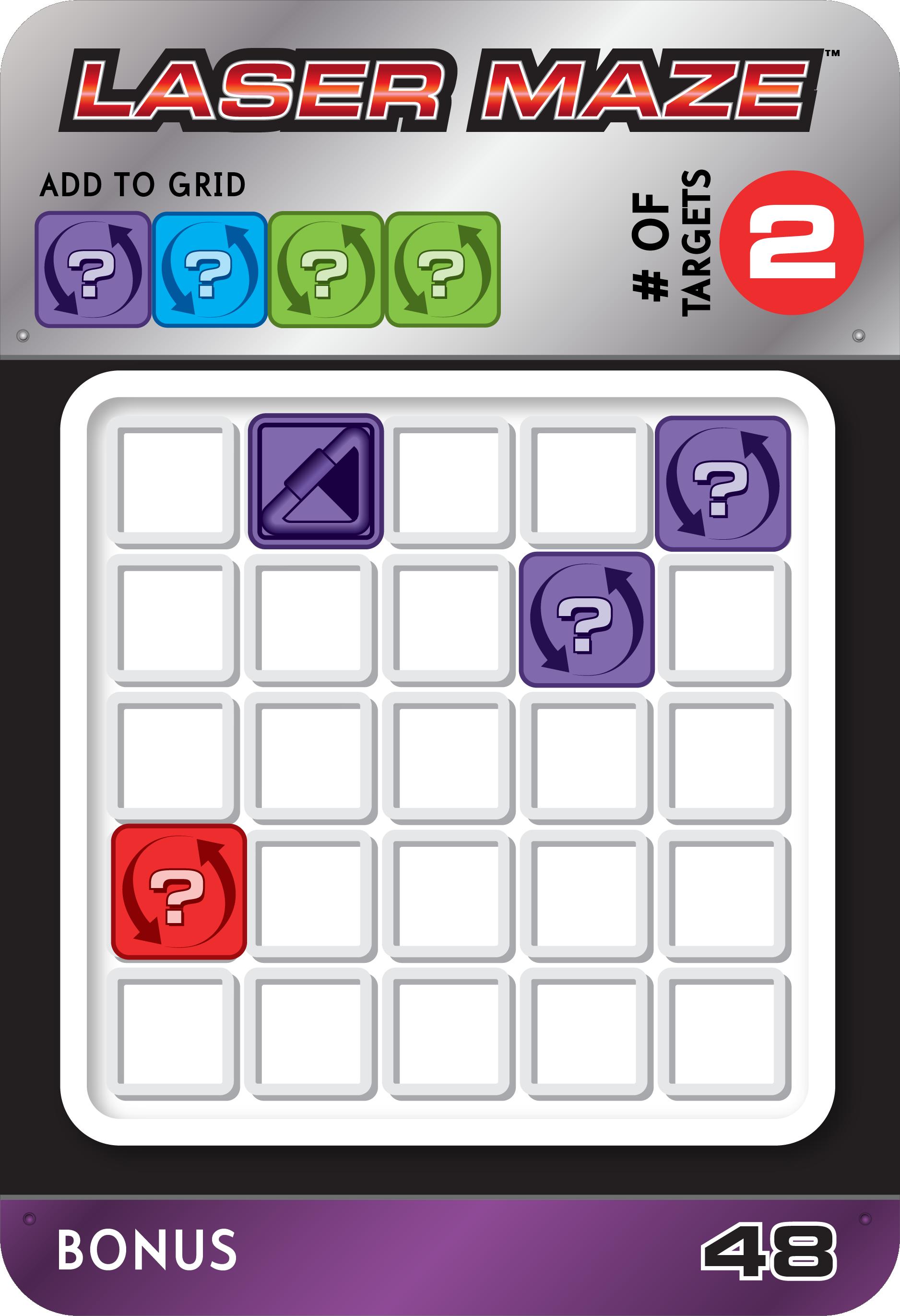 Laser Maze Bonus Challenge Card